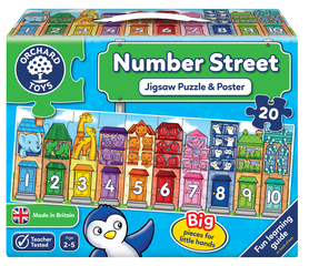 Number Street Jigsaw Puzzle & Poster
