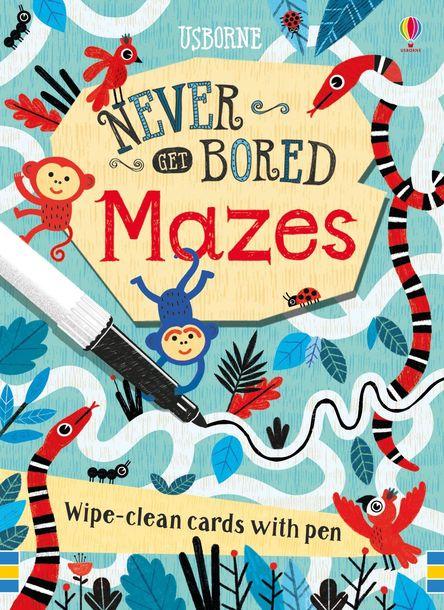 Never Get Bored Mazes - karty suchościeralne z flamastrem (1)