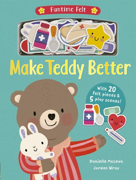 Make Teddy Better - książka z filcowymi elementami i scenkami do zabawy! (1)