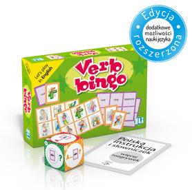 Verb Bingo - gra językowa z polską instrukcją i suplementem