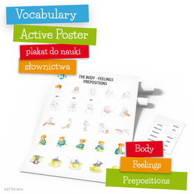 Vocabulary Active Poster - Body - Feelings - Prepositions