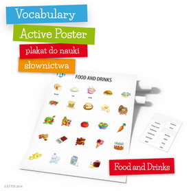 Vocabulary Active Poster - Food and Drinks