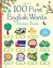 100 First English Words - Sticker Book