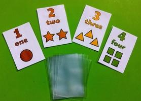 Osłonki na materiały edukacyjne ( np. fiszki, karty, flashcards ) - zamiast laminowania!